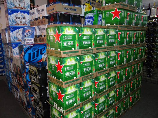 Plenty of beer in stock inside Sullivan's Liquors in Waterbury
